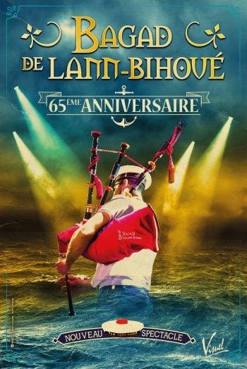 BAGAD DE LANN BIHOUE affiche 65ème anniversaire nouveau spectacle